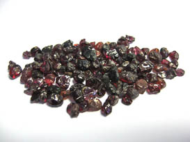 GARNET CRYSTAL LOT DARK RED FROM BURUNDI